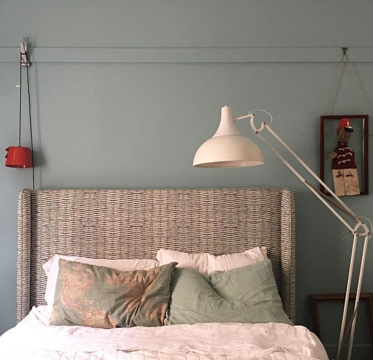 The mad rush to finish things before Christmas - Silver's room with Edit basketweave fabric on custom bed @editssl & Seaglass on the walls from my paint range @murobond_paint_
