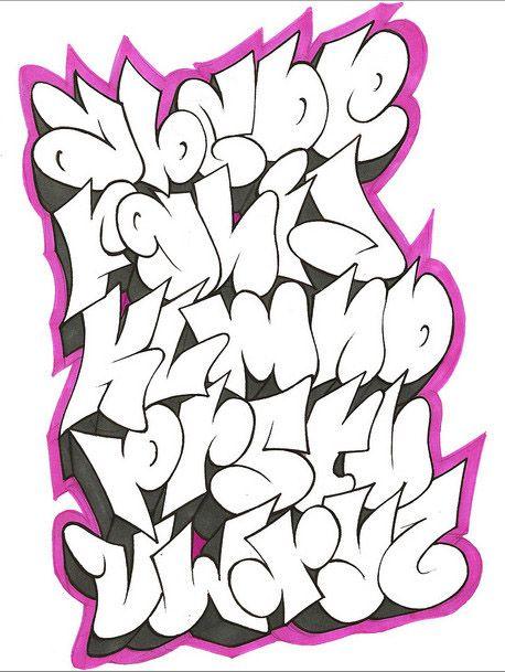 tag lettering alphabet | Cool Graffiti Alphabet Letters by GAR One || Graffiti Tutorial