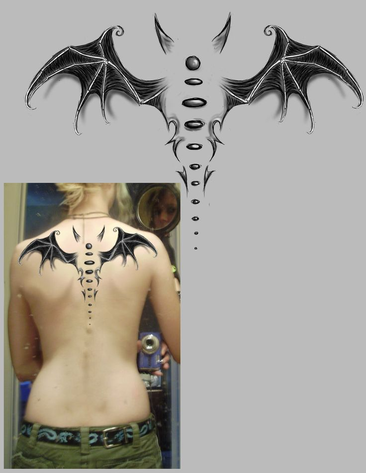 bat tattoo ideas | batwings tattoo design by kyttibat designs interfaces tattoo design ...
