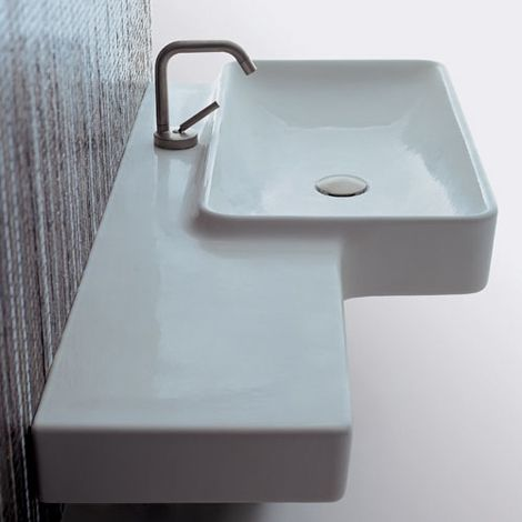 Beautifully curved almost retro wall hung sink from www.parisi.com.au