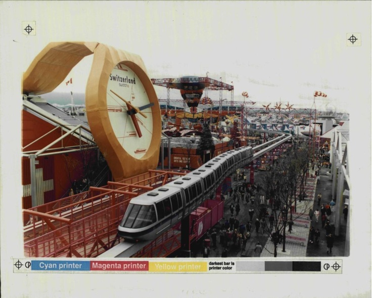 Switzerland pavilion Swatch watch at Expo 86