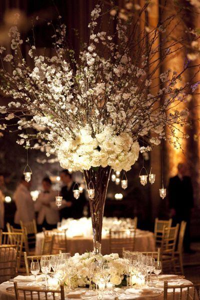 VERY GATSBY....Unique Centerpiece - Creative Centerpieces | Wedding Planning, Ideas & Etiquette | Bridal Guide Magazine