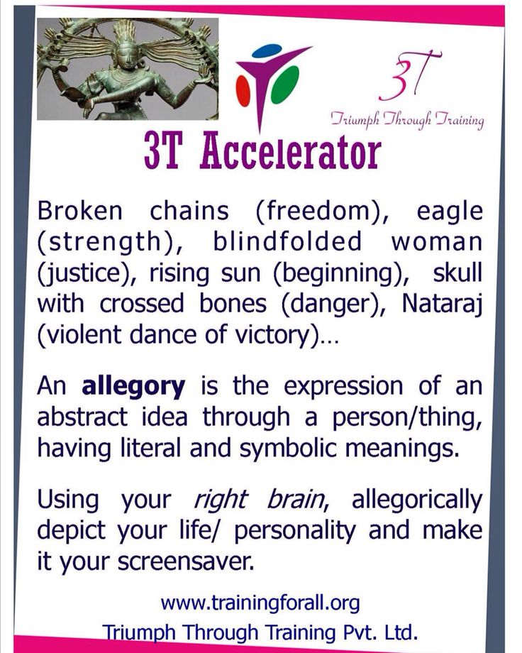 #3t_accelerator of today is on Allegory. #TriumphthroughTraining