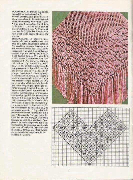 430 best CROCHET CHALES, PONCHOS Y BUFANDAS images on Pinterest ...