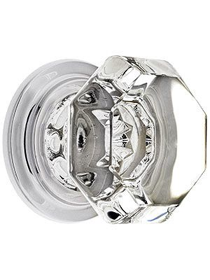"Old Town Crystal Wardrobe Knob with Solid Brass Rosette in Chrome Finish $26.59 1 3/4"" across, 11/2"" projection & 1 3/4"" base. Stem is 3/8"" long and 1/4"" in diameter."