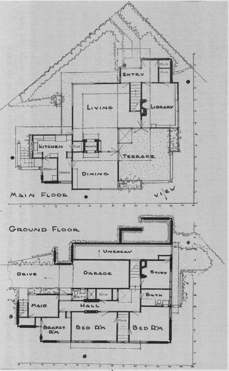 697 best floor plans images on pinterest frank lloyd wright los