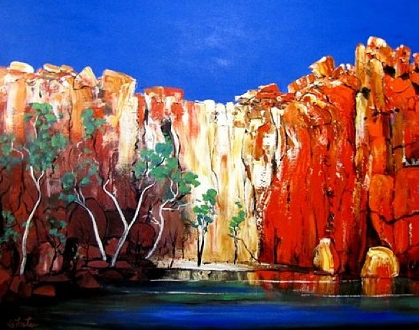 King Leopold Gorge-carole foster art