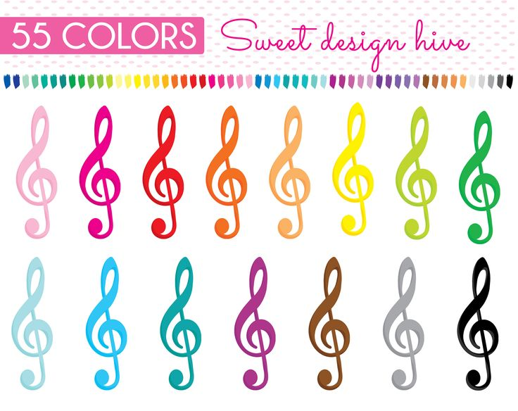 Treble Clef clipart, music key clipart, Music Class clipart, musical note, Rainbow treble clef, Planner Stickers, Commercial Use PL0117 by Sweetdesignhive on Etsy