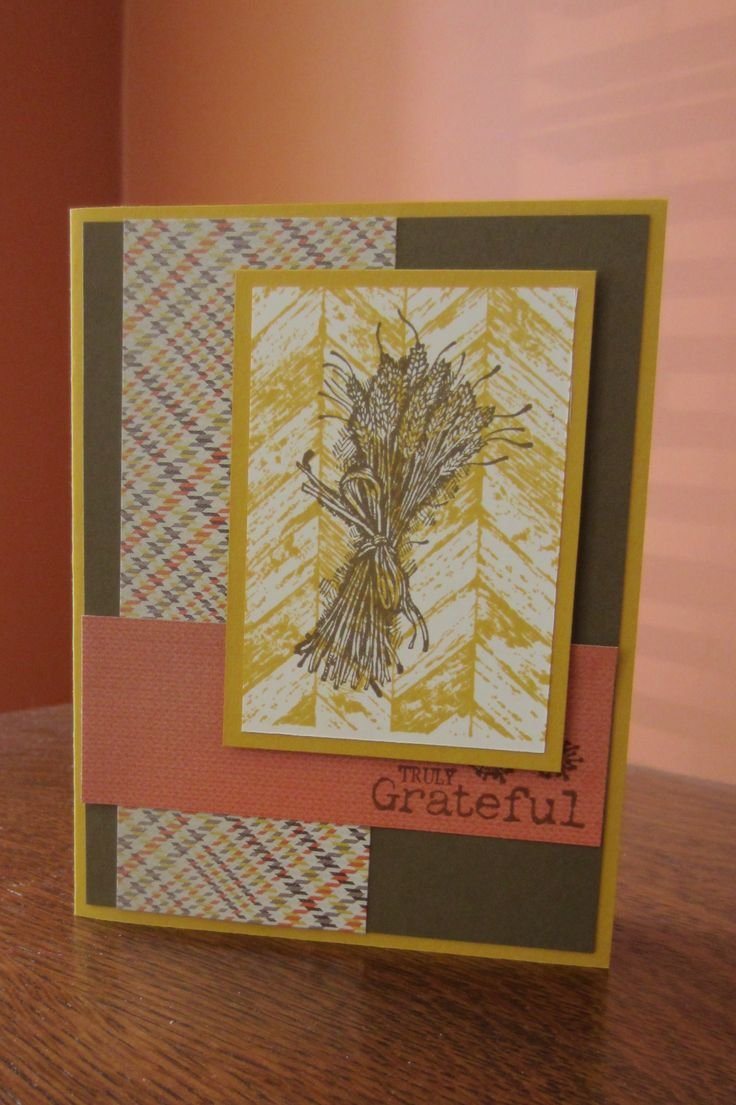 Thanksgiving card using stampin up truly grateful and sweater weather