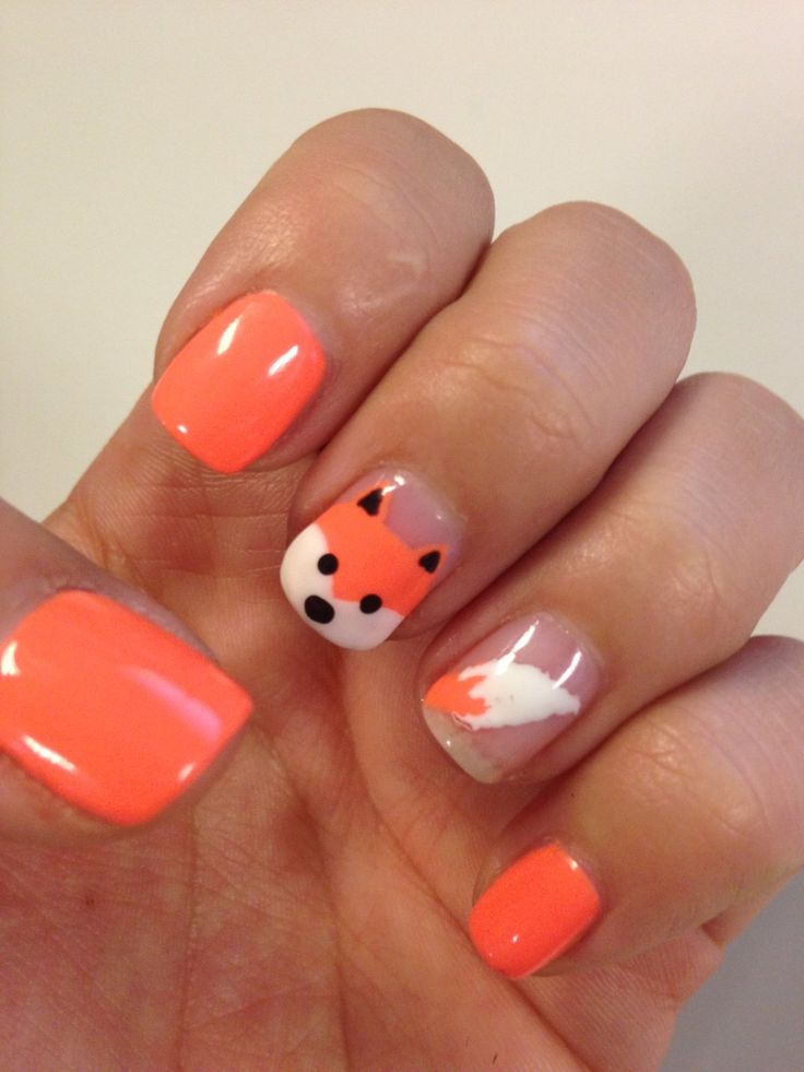 25 trending fox nails ideas on pinterest autumn nails 2017 pretty nails and spring nails - Easy cute nail designs at home ...