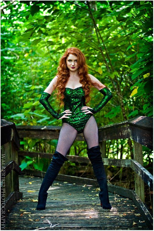 poison ivy, halloween costume, redhead, red hair