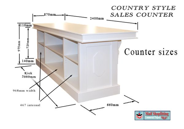 Vintage Reception Desk For Hair Salon Country Style
