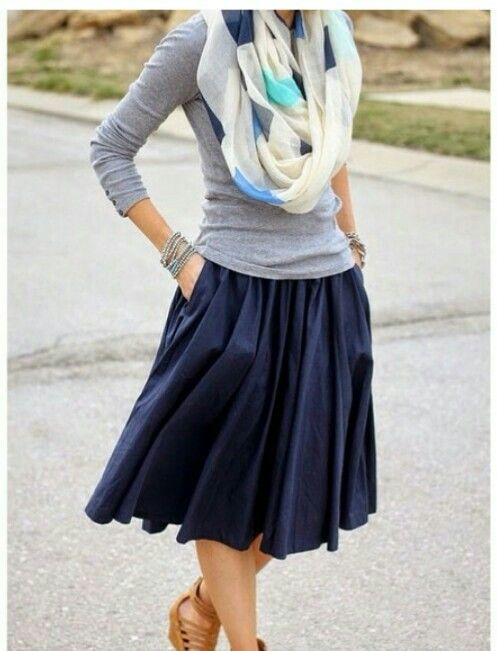 very cute, feminine, and laid back. Plus, I can't get enough of navy!