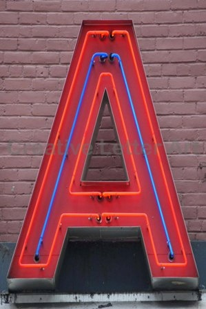 Neon sign - A #typography #3d