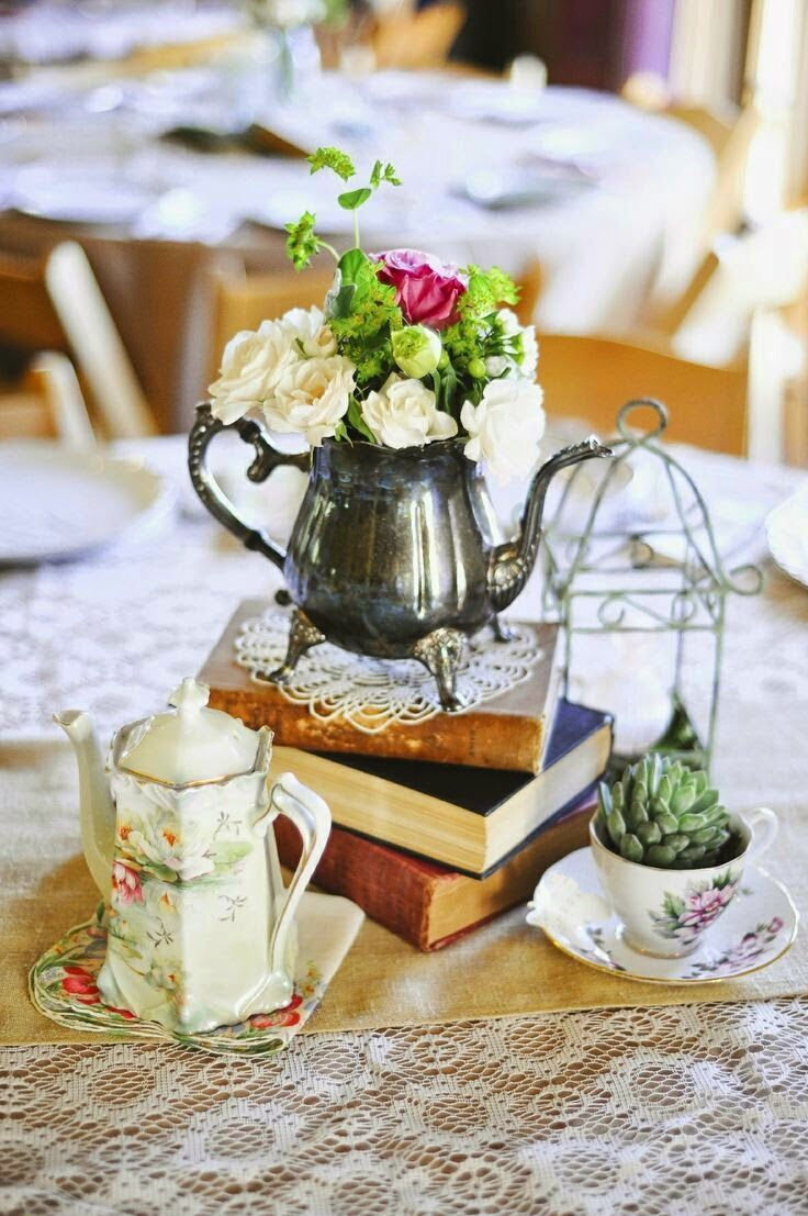Alice in Wonderland reception with tea party