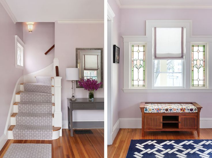 Benjamin Moore S Organdy 1248 Too Pink Purplish Needs To Be More Gray But May Be Nice In Great Room Crown In 2019 Interior Paint Colors