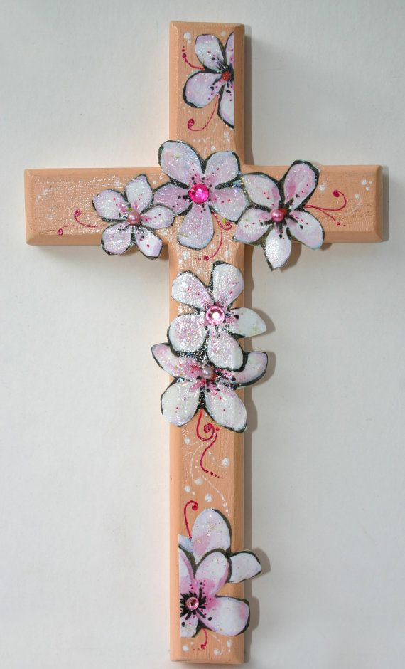 Wall cross, Decorative wall cross, Floral cross