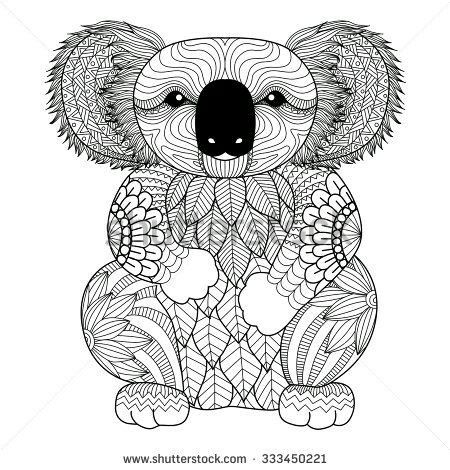 23 best mandalas tumblr images on pinterest malb cher for Koala coloring page