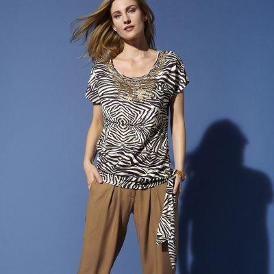 3 SUISSES - t-shirt bijoux imprimé inspiration safari - Votre Mode