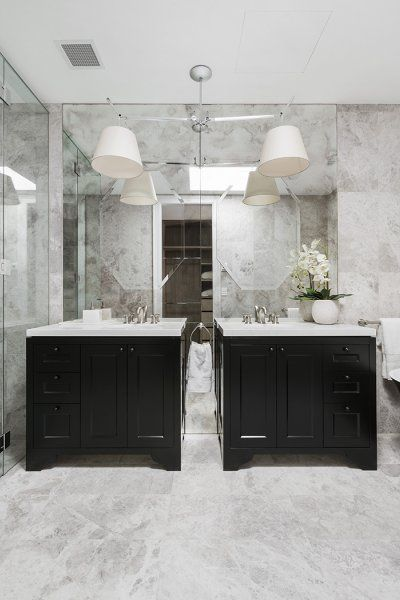 twin black cabinets bathroom design ideas bathroom renovation rh pinterest com au