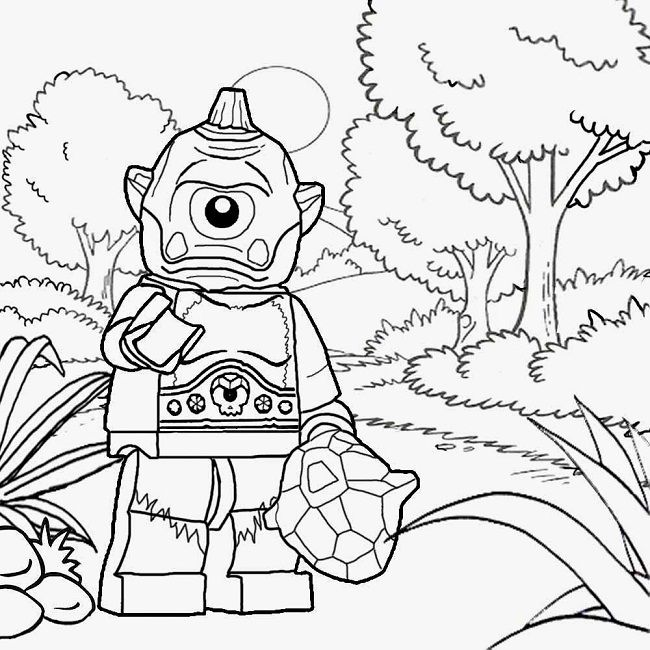 lego monster coloring pages