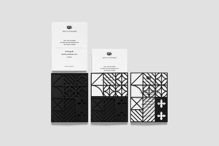 We Love Invitations. Helvetimart. Design by www.anagrama.com