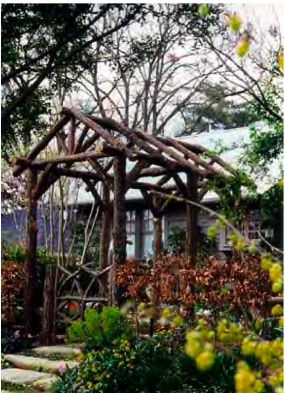 Buz Stone Of The Rustic Garden Builds These Bent Wood Arbors
