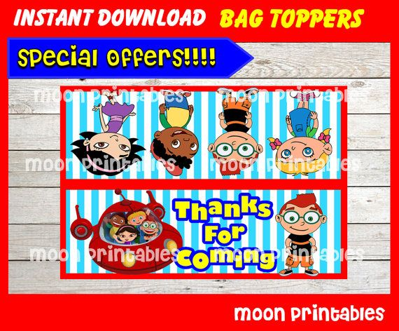 80% OFF SALE Little Einsteins Party Toppers by moonprintables