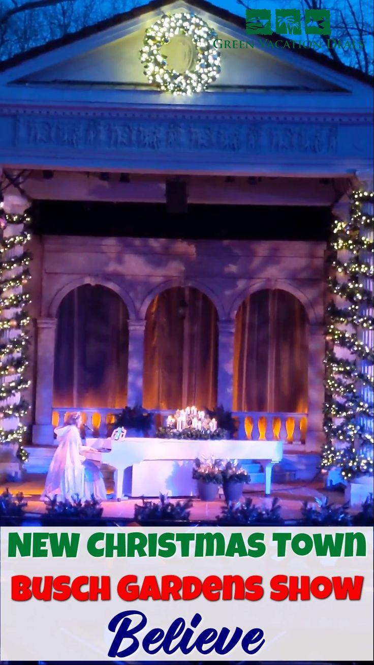 New Christmas Town Busch Gardens Show Believe [Video