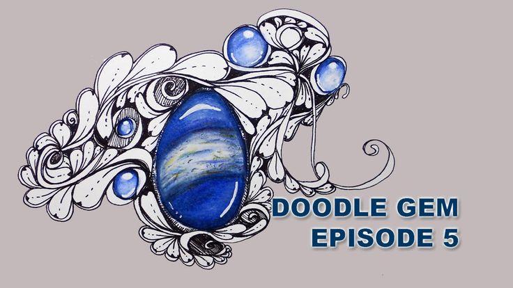 How to Draw Doodle Gems Episode 5 Lapis Lazuli