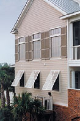 Shutters beach houses and window on pinterest for Bermuda style exterior shutters