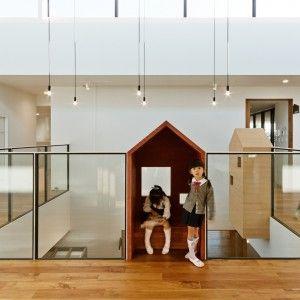 Hibino+Sekkei+and+Youji+no+Shiro's+kindergarten+features+house-shaped+reading+nooks