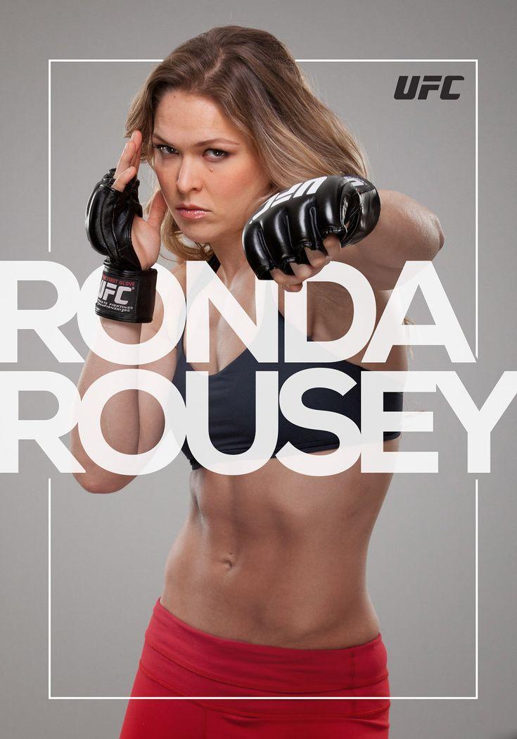 Behance :: Ronda Rousey Poster by Evandro Salmeirao
