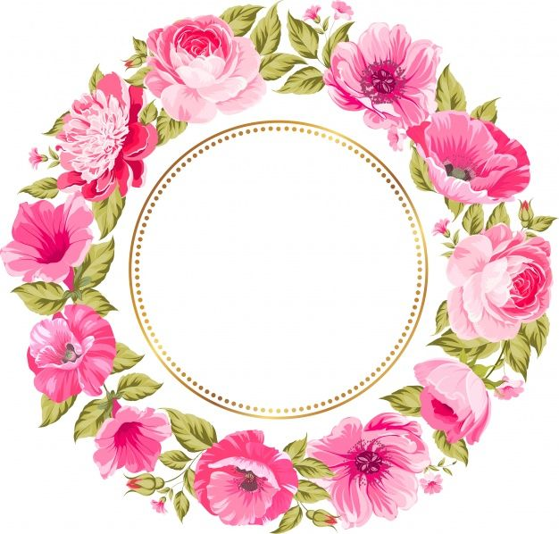 design floral colorido da grinalda Vetor Premium