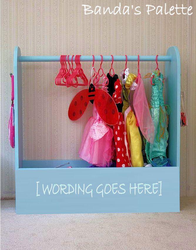 Dress Up Station - As Seen on Pinterest, Dress Up Storage, Hero Up, Closet, Costume Storage, Dress Up Center, Princess Closet, Pretend by BandasPalette on Etsy https://www.etsy.com/listing/208923629/dress-up-station-as-seen-on-pinterest