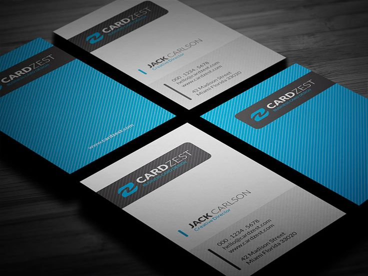 The 201 best free business card templates images on pinterest free download httpcardzestmodern blue vertical business card templatesfree reheart