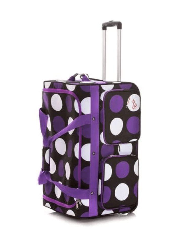 dfd655d54c2d Rac N Roll Purple Polka Dots Dance Bag