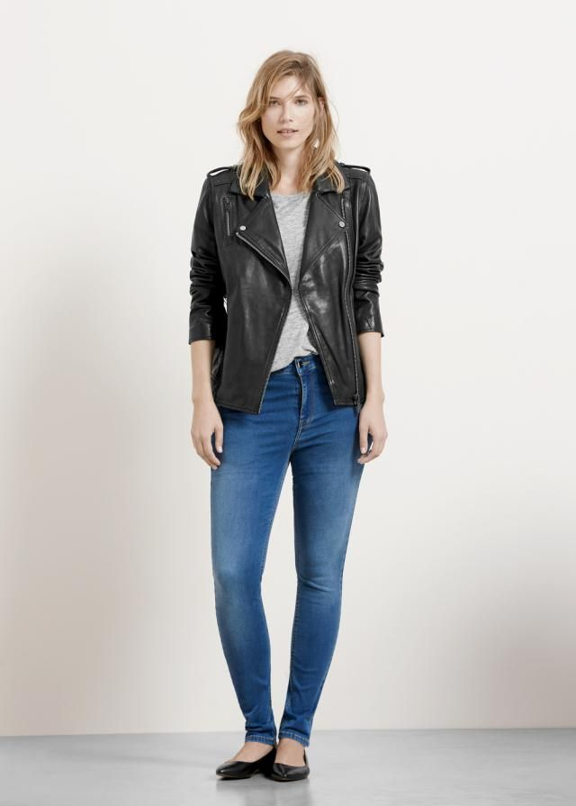 20 best images about Skinny Jeans Outfits on Pinterest | Grey skinny jeans Leather jackets and ...