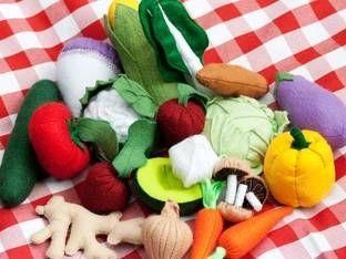 Nähen für die Spielküche: Lebensmittel und Zubehör selber machen
