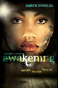 Awakening by Karen Sandler is the sequel to the YA sci-fi dystopia Tankborn about genetic engineering, forbidden love, and what it means to be human.