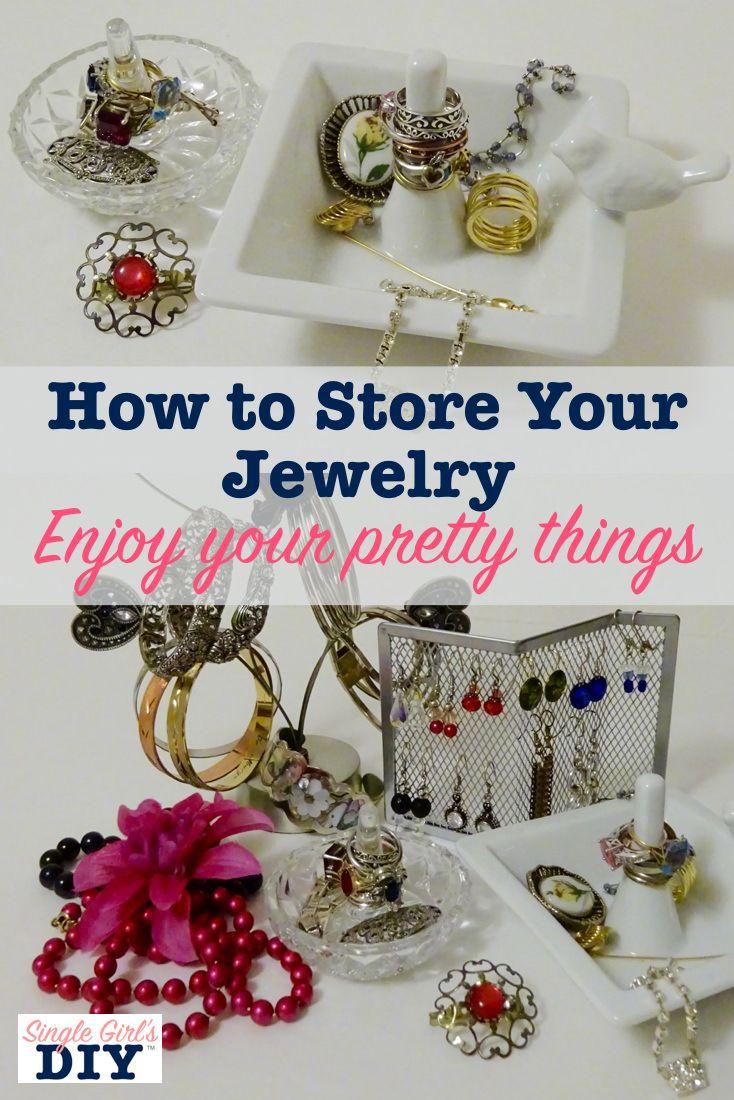 Beautiful And Creative Ways To Store Your Jewelry Jewellery Storage Cleaning Jewelry Jewelry Storage Diy