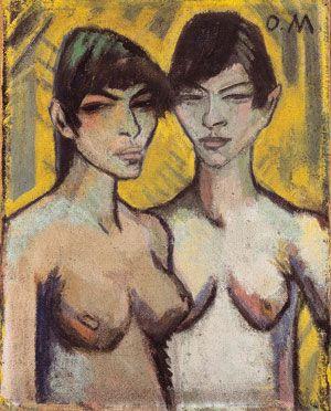 Otto Mueller - Zwei Halbakte (2) - Entartete Kunst