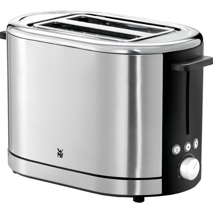 WMF Lono Broodrooster RVS/Zwart  WFM biedt met de LONO ontbijtserie opnieuw het toppunt van design. De unieke vormgeving en het elegante Cromarganpast in elke keuken en geeft het werkblad een uniform aanzicht. De serie bestaat uit een ketel een broodrooster en afhankelijk van uw wensen een koffiezetapparaat met een glazen aromakan of een thermoskan of een koffiepadmachine. 900 watt vermogen Broodrooster met 2 roostersleuven 7 verschillende instelbare bruiningsgraden GeÃntegreerd rekje voor…