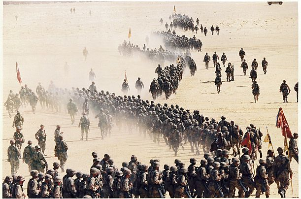 1st Cav Operation Desert Storm, Iraq. I can pick out my 1sg and my wingman in this pic!