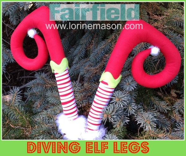 Easy to create Diving Elf Legs will be sure to bring smiles to all who witness their possible mischief first hand. Create one set or perhaps a trio...