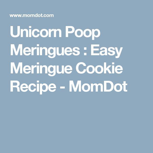 Unicorn Poop Meringues : Easy Meringue Cookie Recipe - MomDot