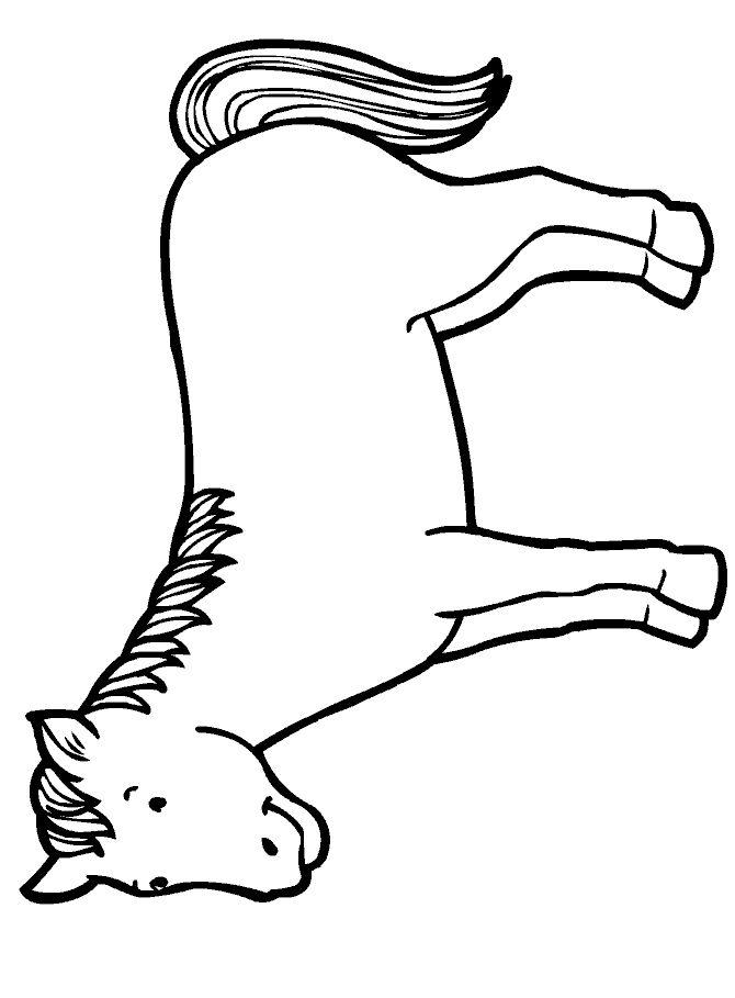 blue horse--coloring activity for older kids