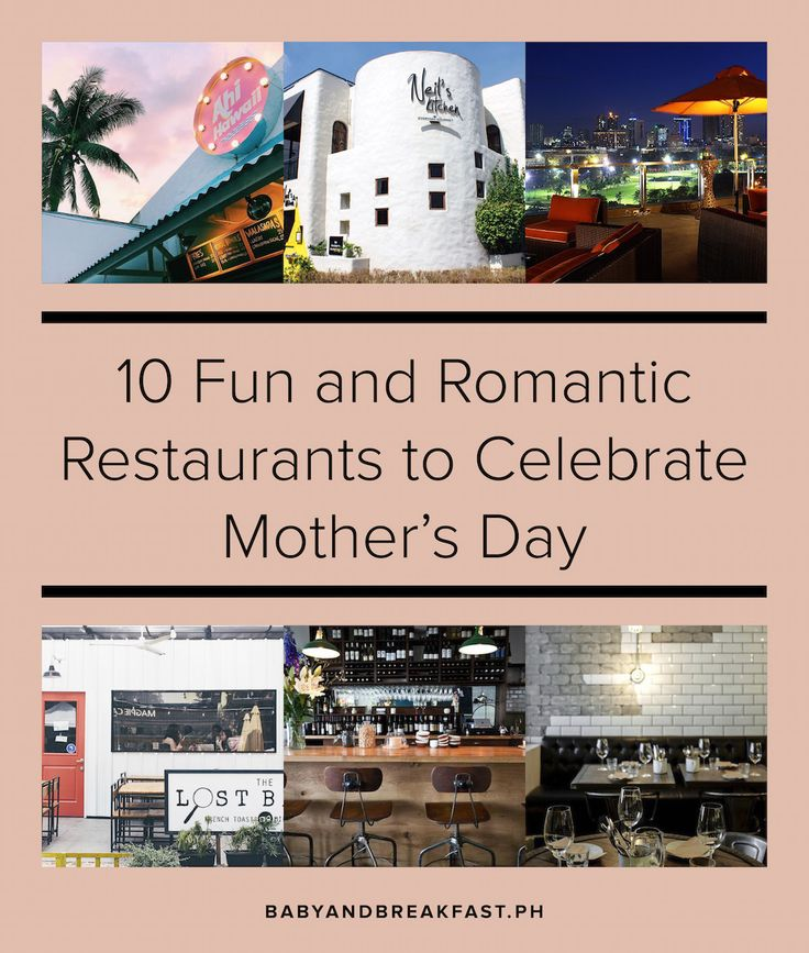 10 Cool Restaurants to Celebrate Mother's Day | Romantic Restaurants | Date Night | Manila | Philippines | Fun Restaurants | Family Date | http://babyandbreakfast.ph/2017/05/08/10-romantic-restaurants-to-celebrate-mothers-day/