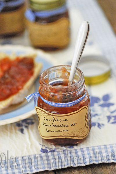 Les gourmandises d'Isa: CONFITURE RHUBARBE ET BANANE