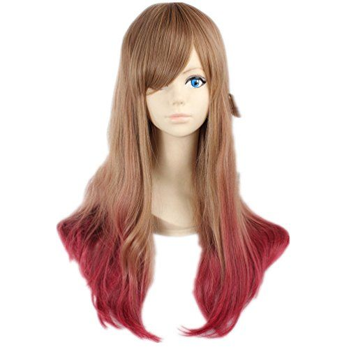 Prettymart Cosplay Wig Japanese Harajuku Lolita Lang Rot Blond Anime Hair *** See this great product.